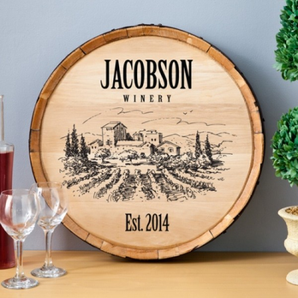 Wine Barrel Home Decor Signs
