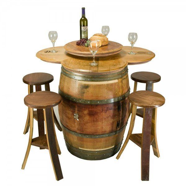 Wine Barrel Table Set: Cabinet Base