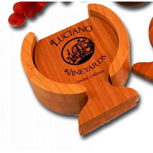 'Luciano Vineyard' Personalized Coasters