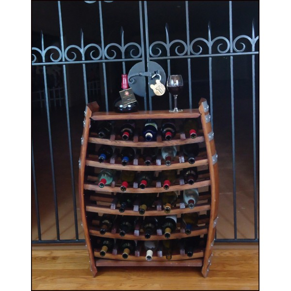 Barrel Wine Rack (30 Bottle)