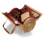 Verona Wine Basket - Red Clay