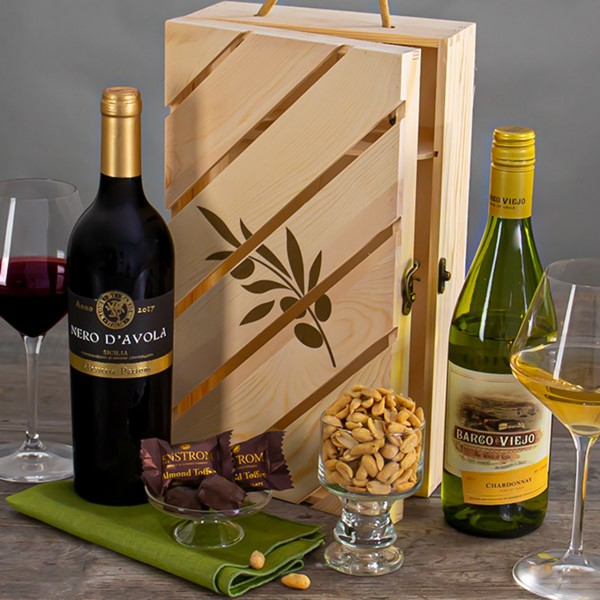RED & WHITE PREMIER WINE DUO GIFT CRATE