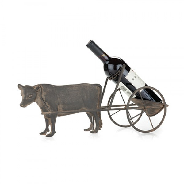 Rustic Farmhouse: Cow & Cart Bottle Holder