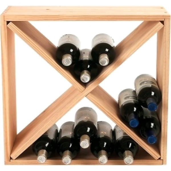 24-bottle Cube Rack Natural