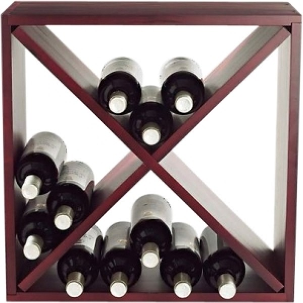 24-bottle Cube Rack Mahogany