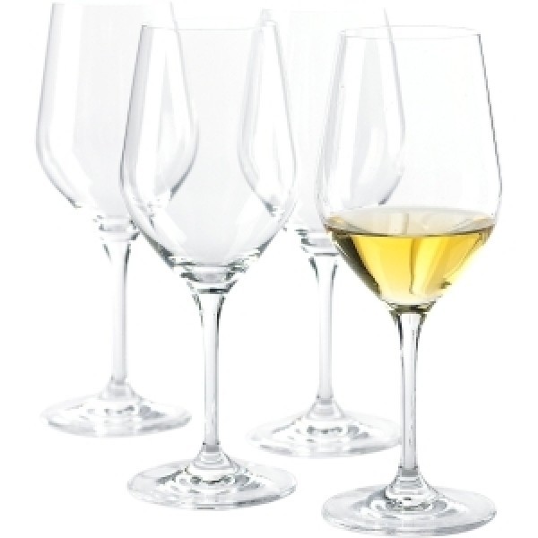 Wine Enthusiast Fusion Classic Chardonnay Wine Glasses - 15 oz - Crystal