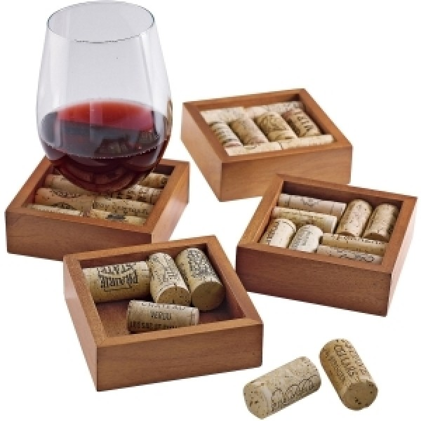 Wine Enthusiast Wine Cork Coasters Kit - Trivet