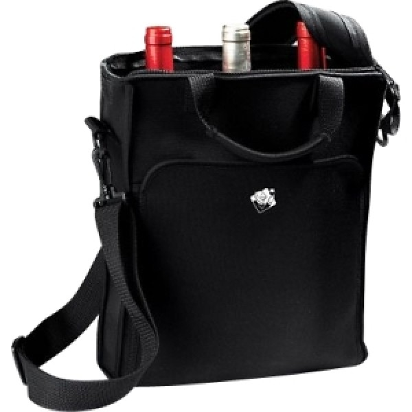 Wine Enthusiast Carrying Case (Tote) for 3 Bottle - Black