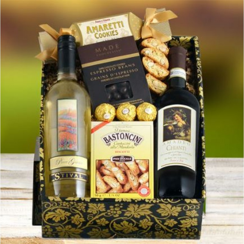 Wine gift basket negle Image collections