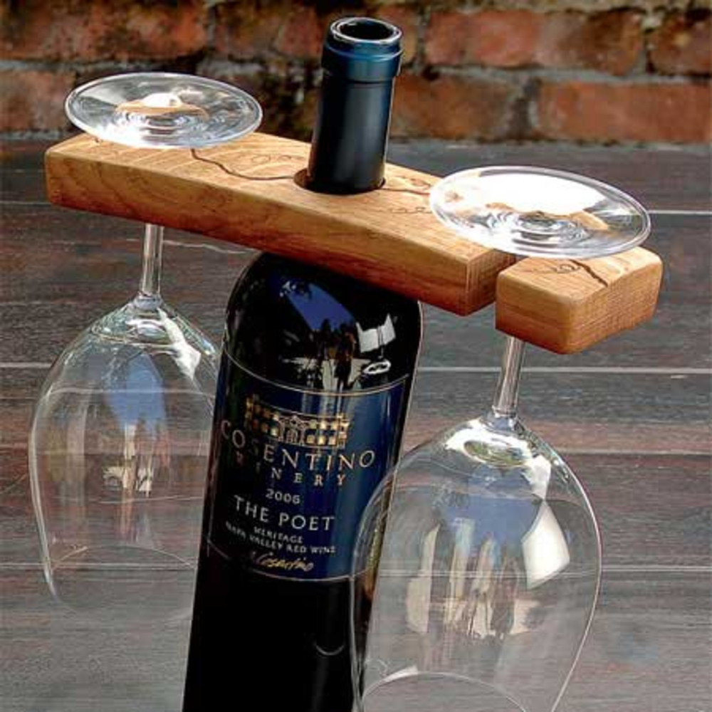 Set Of Steady Sticks Outdoor Wine Bottle And Gl Holders