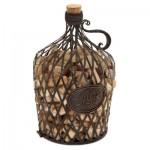Cork Cage Vintage Wine Jug