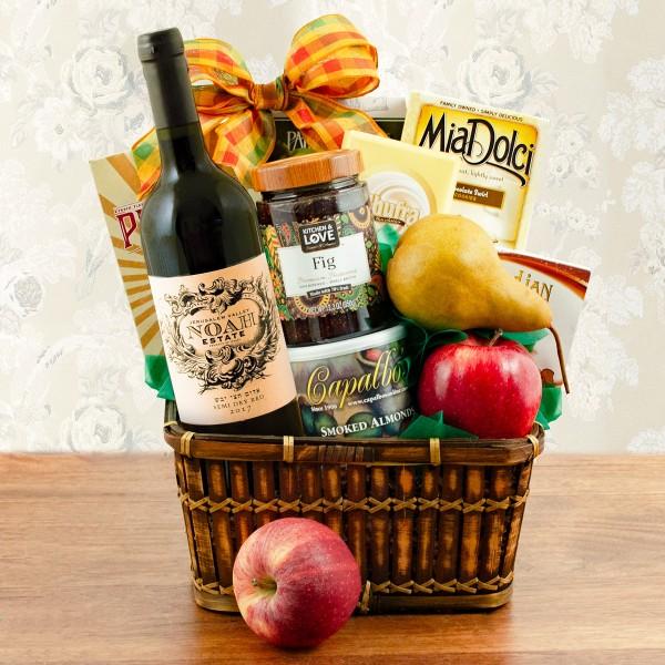 Sea Of Galilee Fruit & Wine Kosher Gift Basket