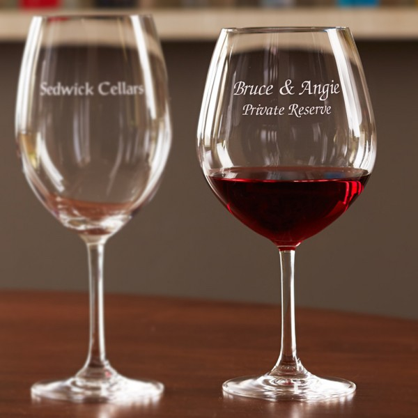 Personalized Stemware Burgundy