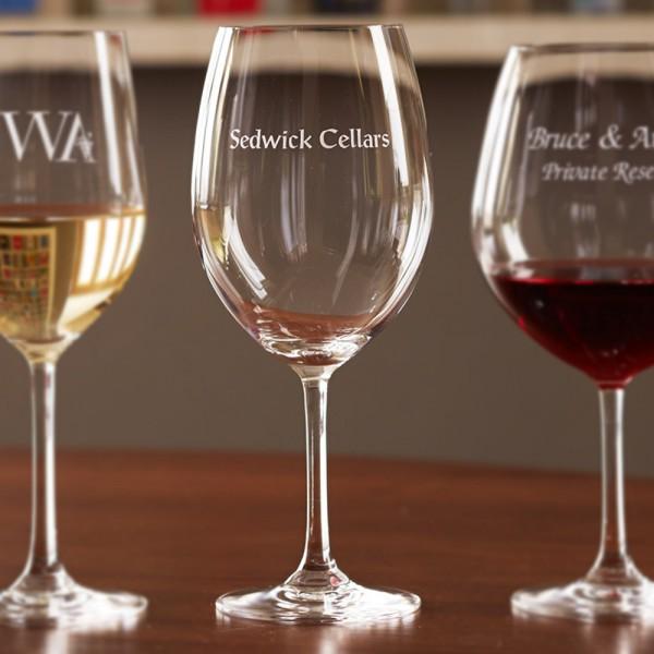 Personalized Stemware Bordeaux
