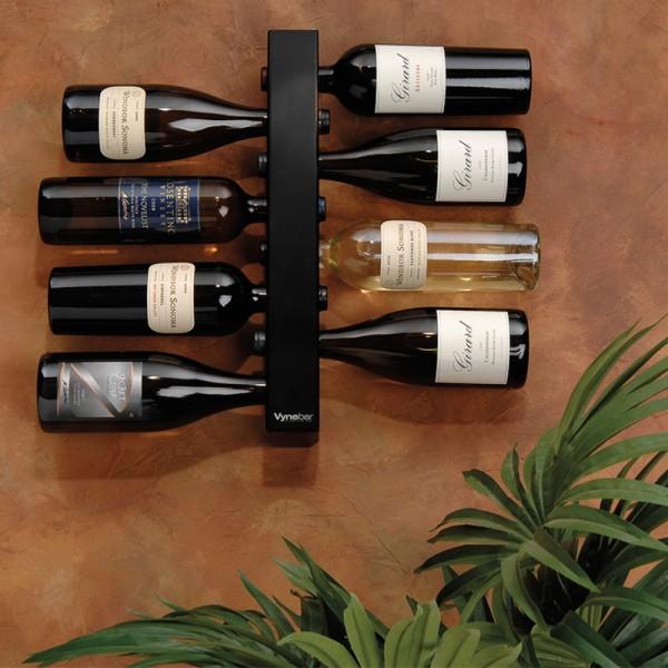 Vynebar 8-Bottle Black Vertical Wine Rack