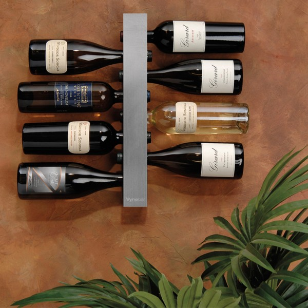 Vynebar 8-Bottle Silver Vertical Wine Rack