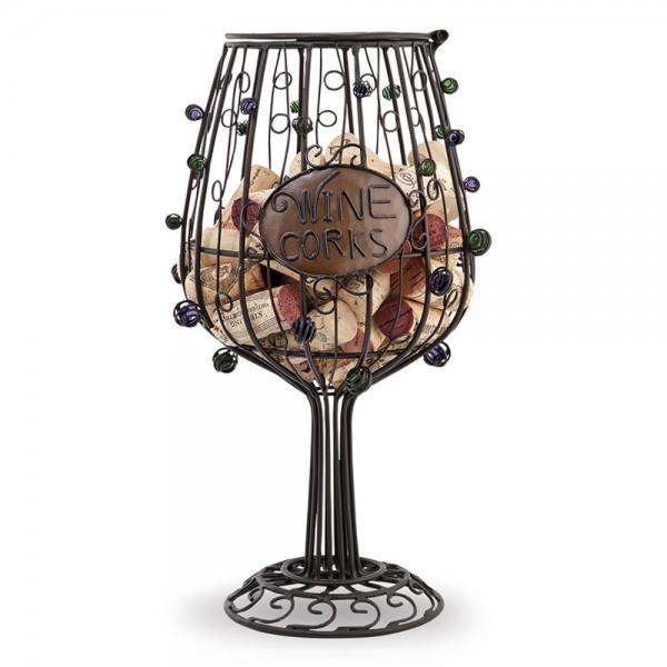 Cork Cage Wine Glass