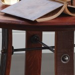 Barrel Top Side Table