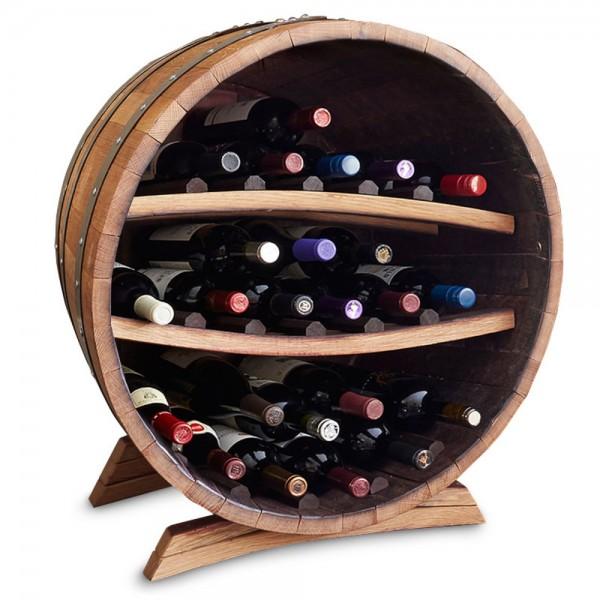 Half Barrel Bottle Rack