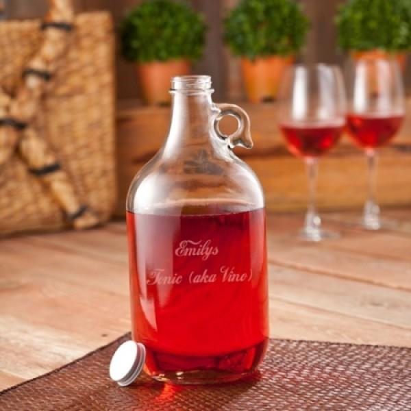 Personalized Wine Jug Set (includes 2 wine glasses)